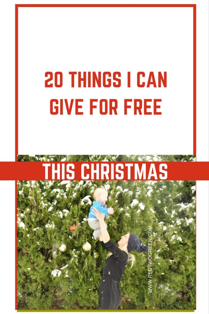 Things I can give for free this christmas