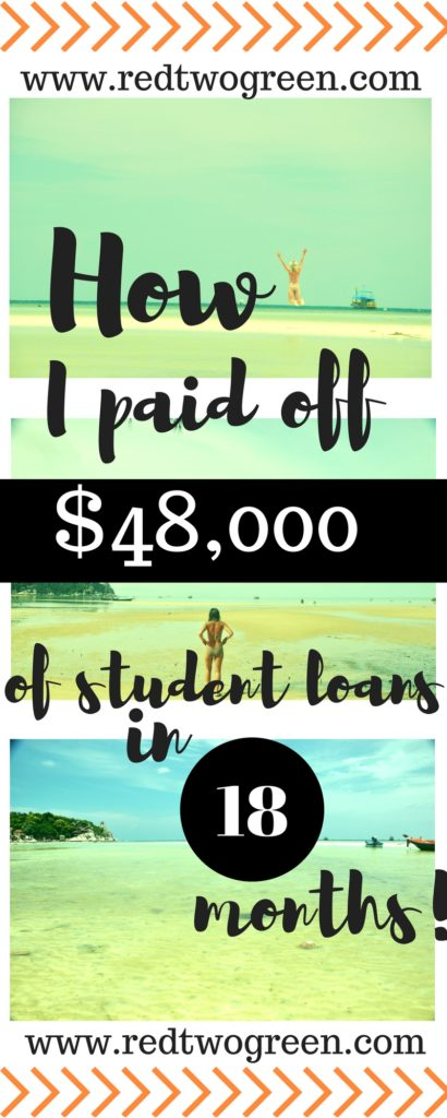 how i paid off my student loans