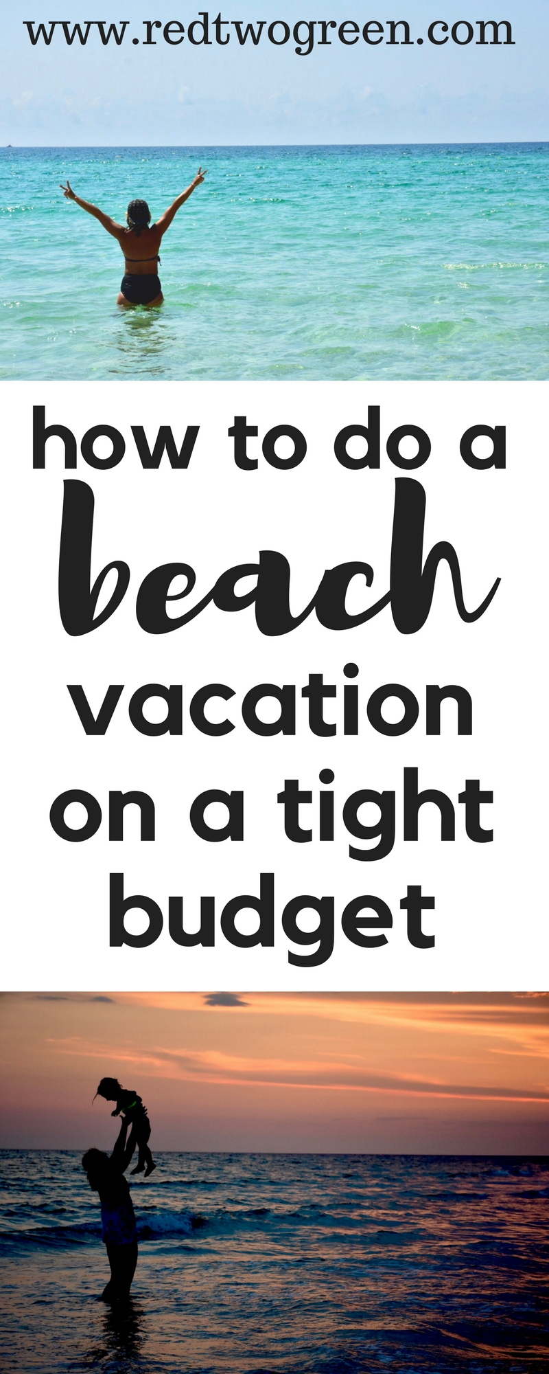 how to take a beach vacation on a budget deeply in debt