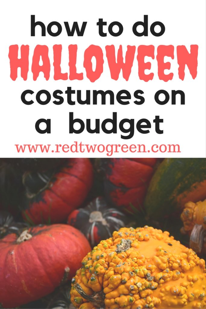 how to do halloween costumes on a budget